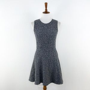 Theory Black & White Tweed Fit and Flare Dress